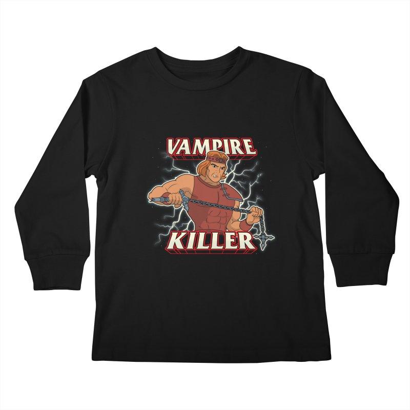 VAMPIRE KILLER Kids Longsleeve T-Shirt by UNDEAD MISTER