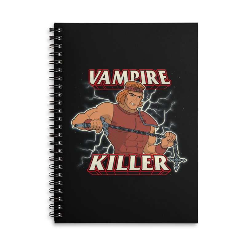 VAMPIRE KILLER Accessories Lined Spiral Notebook by UNDEAD MISTER