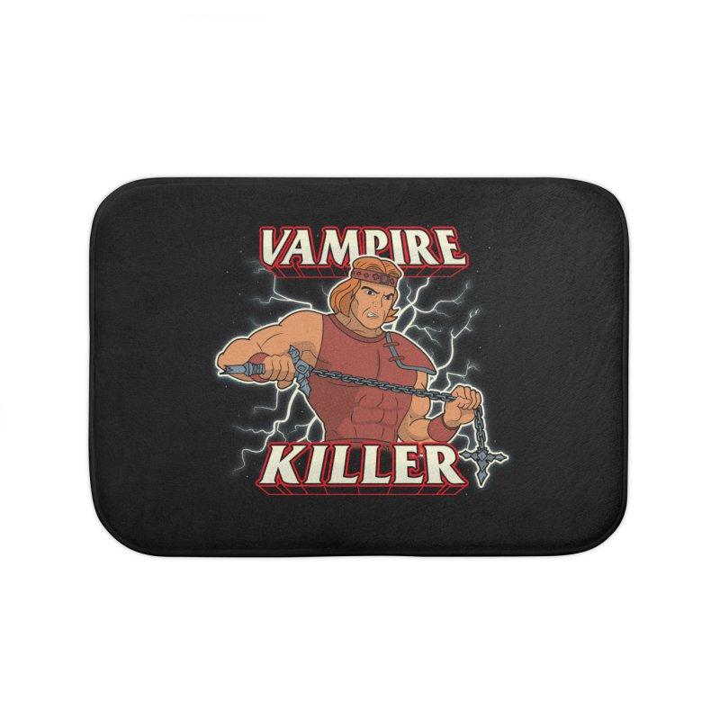 VAMPIRE KILLER Home Bath Mat by UNDEAD MISTER