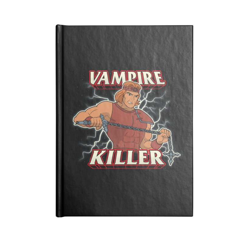 VAMPIRE KILLER Accessories Lined Journal Notebook by UNDEAD MISTER