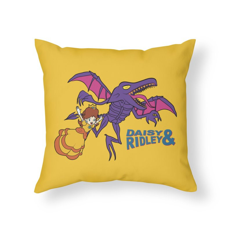 DAISY & RIDELY Home Throw Pillow by UNDEAD MISTER