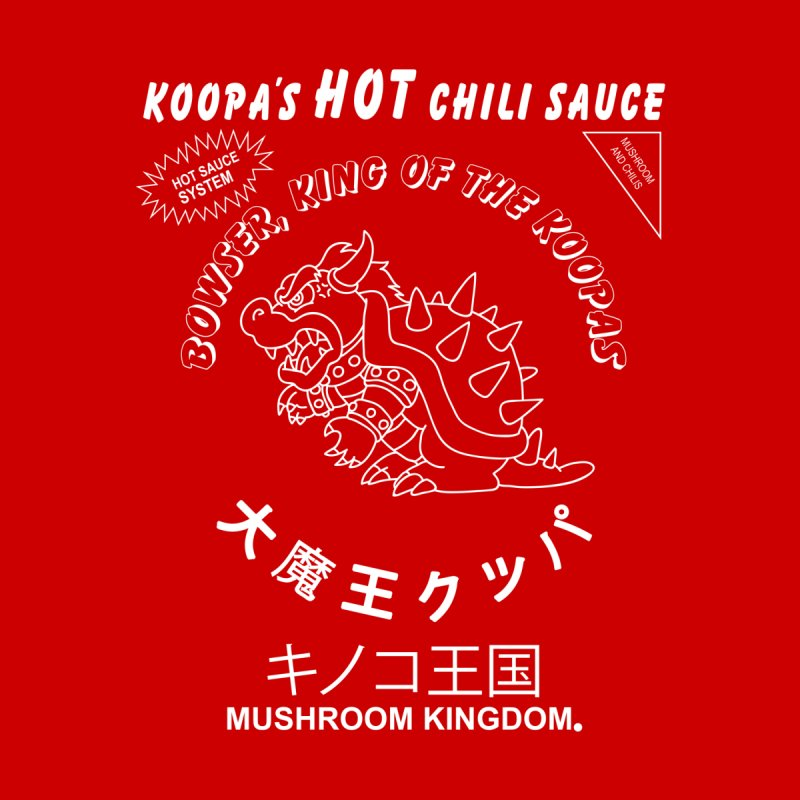 KOOPA'S SRIRACHA Men's Zip-Up Hoody by UNDEAD MISTER