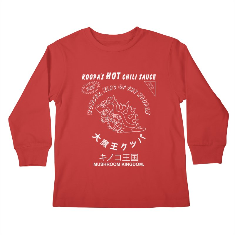 KOOPA'S SRIRACHA Kids Longsleeve T-Shirt by UNDEAD MISTER