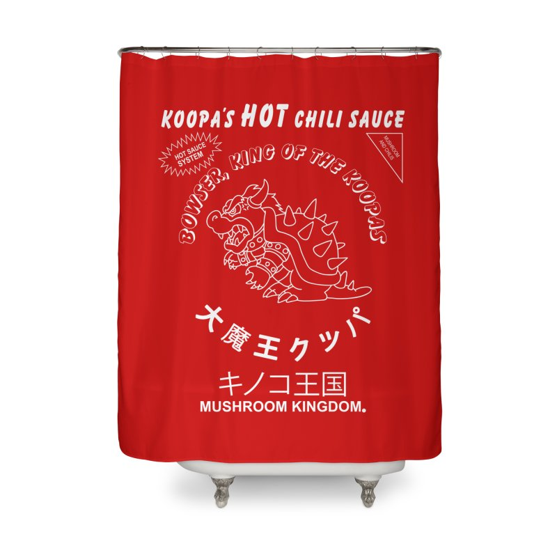 KOOPA'S SRIRACHA Home Shower Curtain by UNDEAD MISTER