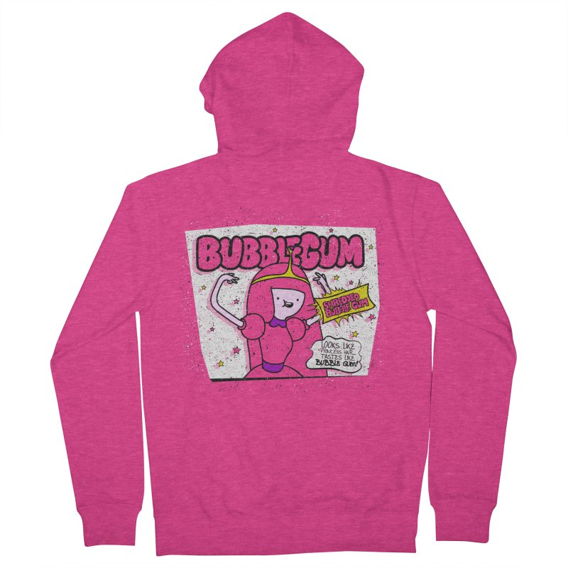 Bubble Gum, Gum! Women's French Terry Zip-Up Hoody by UNDEAD MISTER