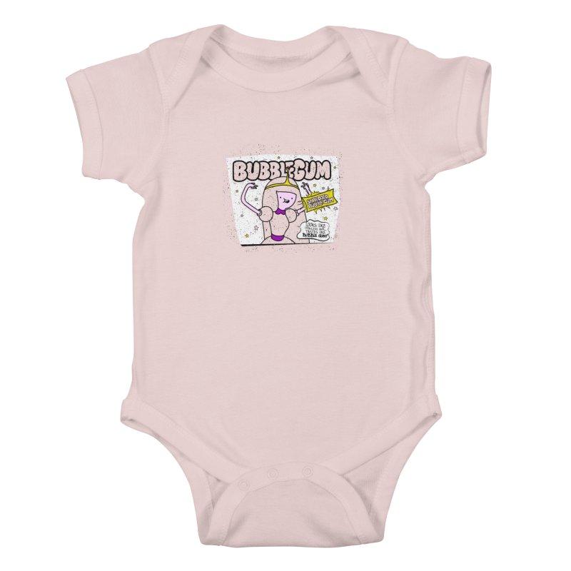 Bubble Gum, Gum! Kids Baby Bodysuit by UNDEAD MISTER
