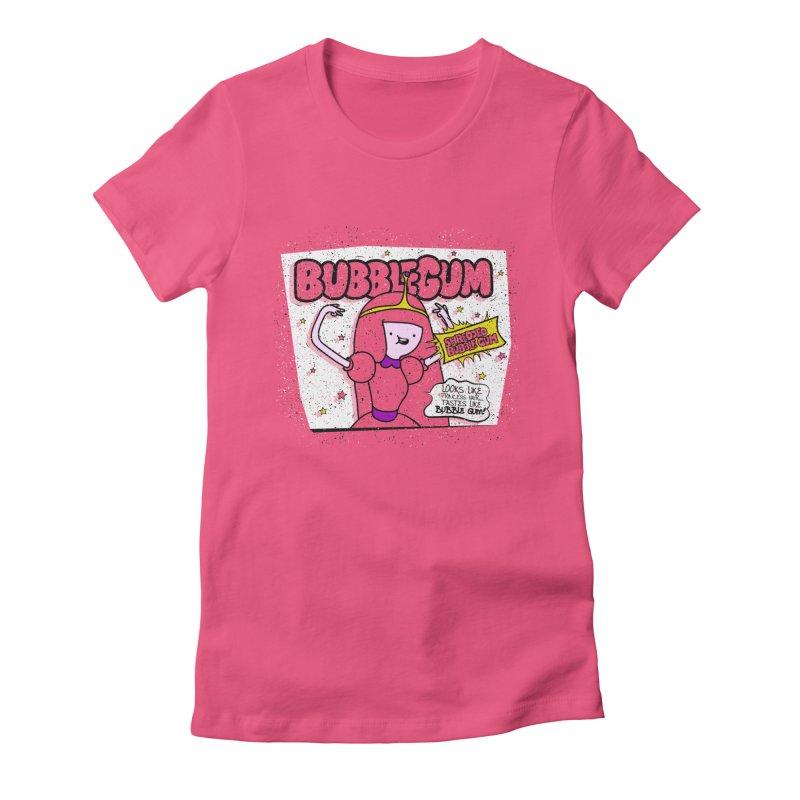 Bubble Gum, Gum! Women's Fitted T-Shirt by UNDEAD MISTER
