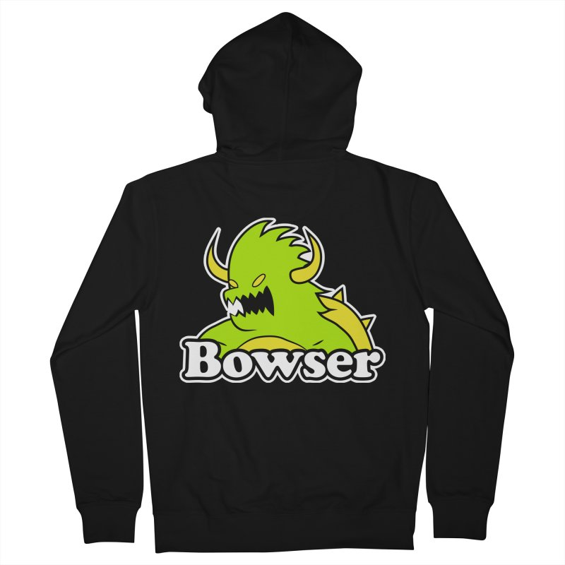 Bowser. Men's French Terry Zip-Up Hoody by UNDEAD MISTER