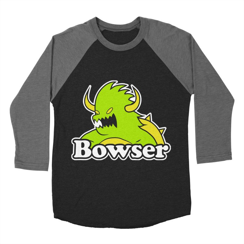 Bowser. Men's Baseball Triblend Longsleeve T-Shirt by UNDEAD MISTER