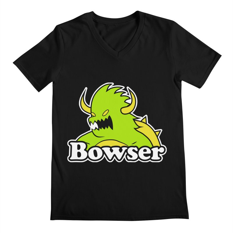 Bowser. Men's Regular V-Neck by UNDEAD MISTER