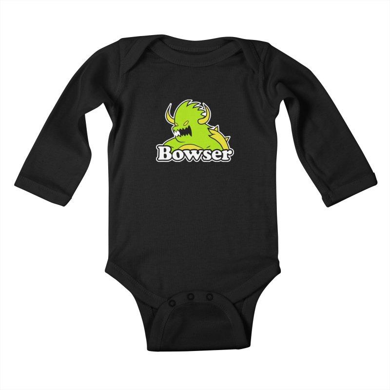 Bowser. Kids Baby Longsleeve Bodysuit by UNDEAD MISTER
