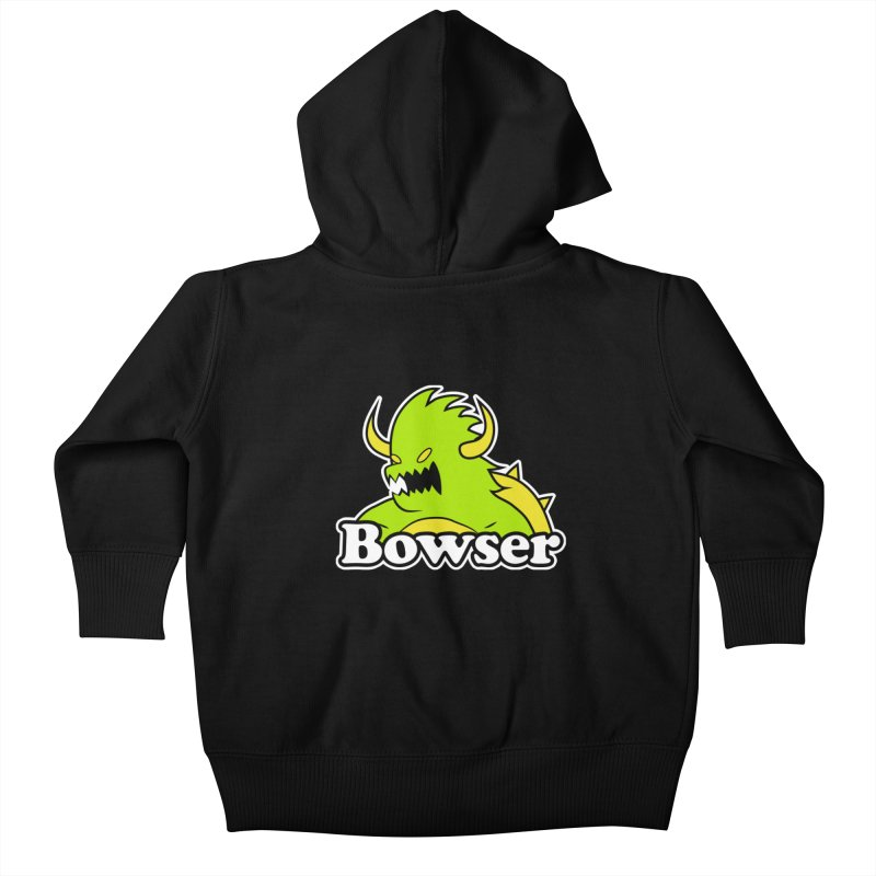 Bowser. Kids Baby Zip-Up Hoody by UNDEAD MISTER