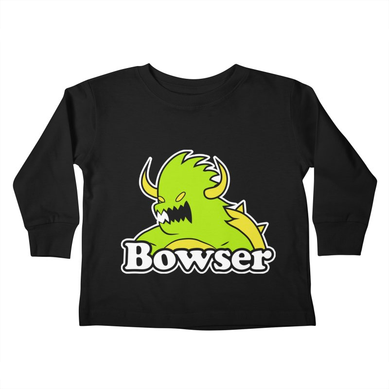 Bowser. Kids Toddler Longsleeve T-Shirt by UNDEAD MISTER