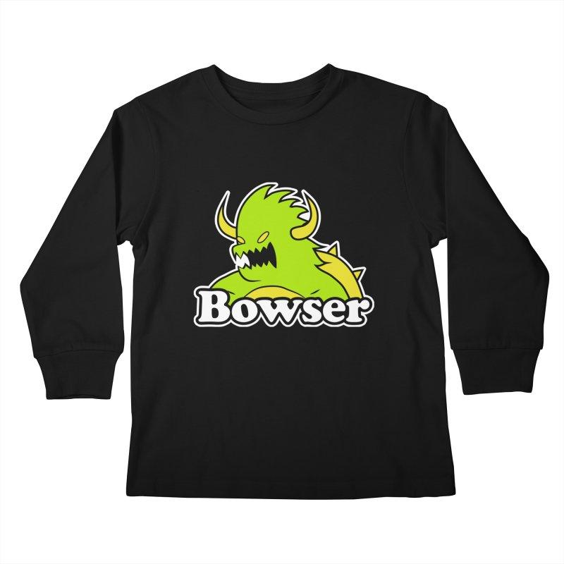 Bowser. Kids Longsleeve T-Shirt by UNDEAD MISTER