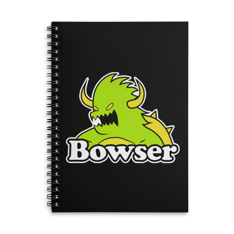Bowser. Accessories Lined Spiral Notebook by UNDEAD MISTER