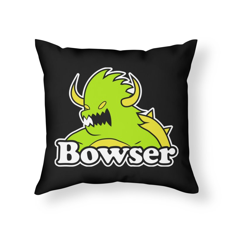 Bowser. Home Throw Pillow by UNDEAD MISTER