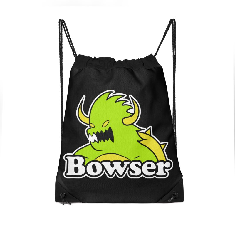 Bowser. Accessories Drawstring Bag Bag by UNDEAD MISTER