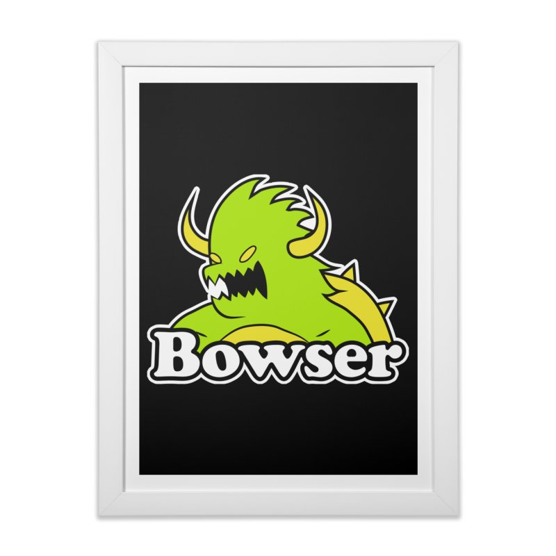 Bowser. Home Framed Fine Art Print by UNDEAD MISTER