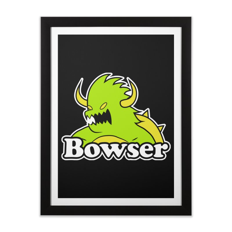 Bowser. Home Framed Fine Art Print by UNDEAD MISTER