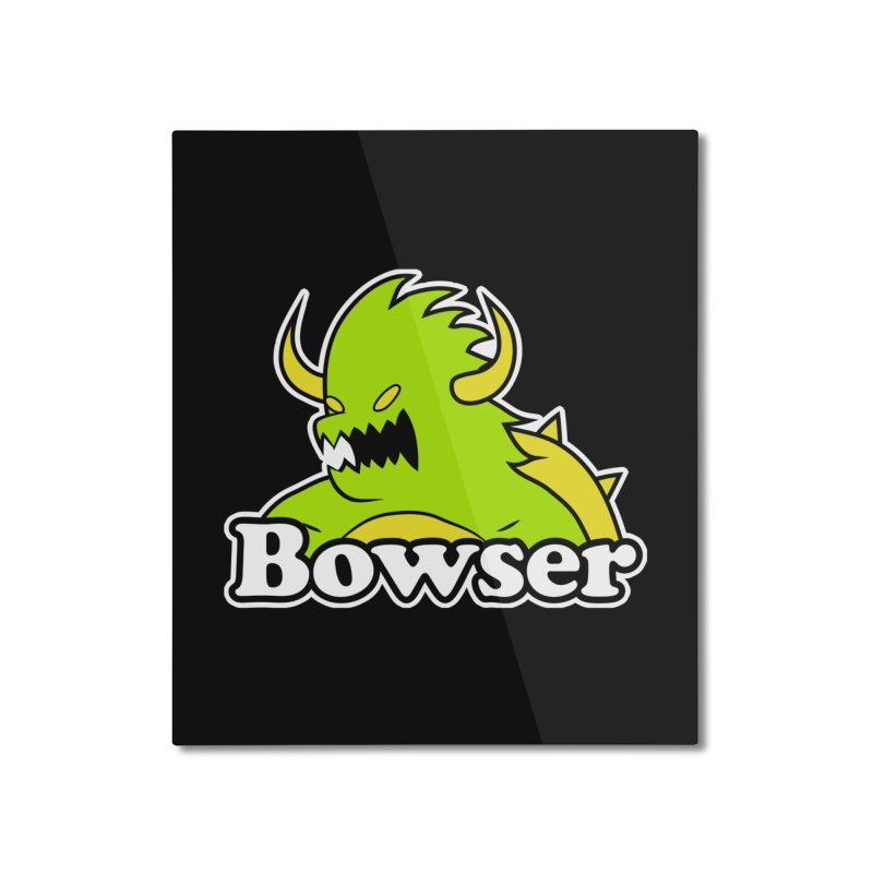 Bowser. Home Mounted Aluminum Print by UNDEAD MISTER