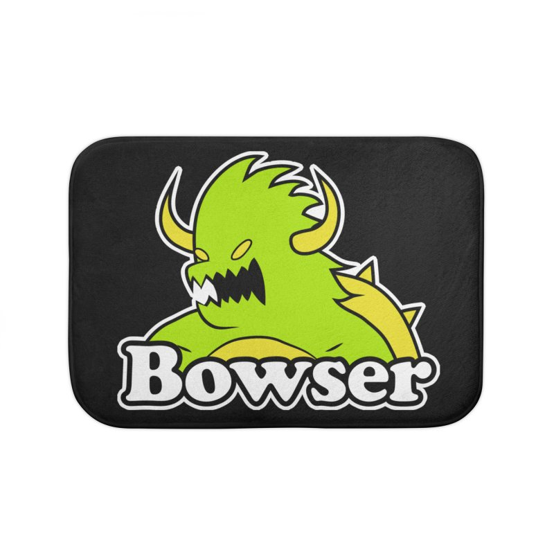 Bowser. Home Bath Mat by UNDEAD MISTER