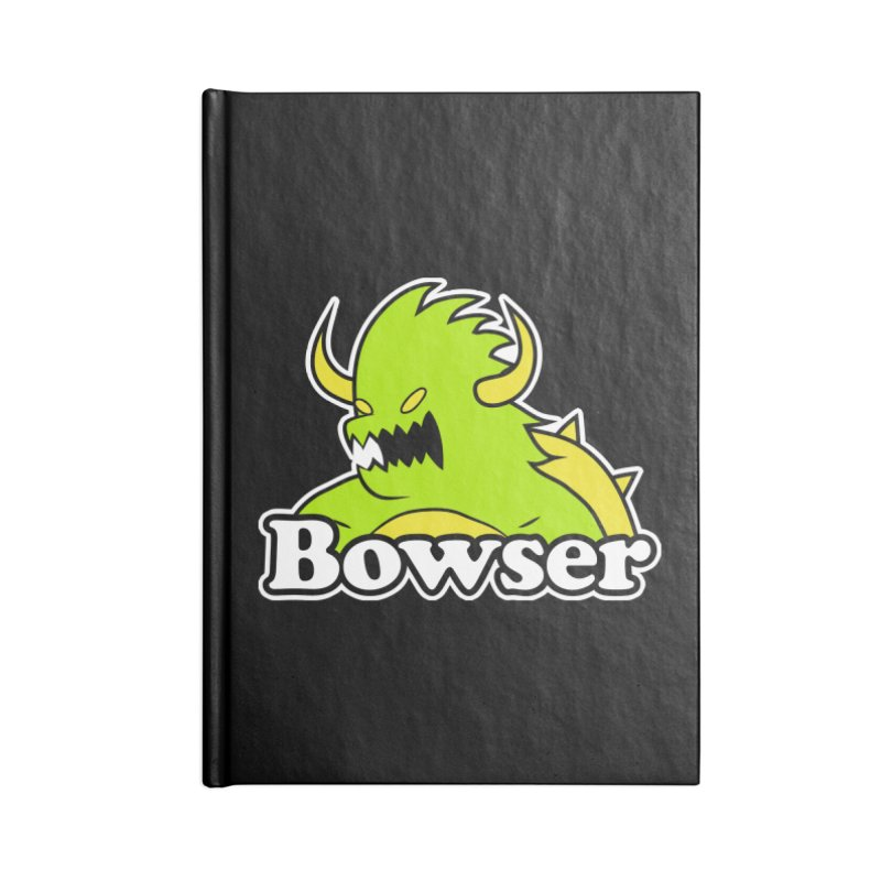 Bowser. Accessories Lined Journal Notebook by UNDEAD MISTER