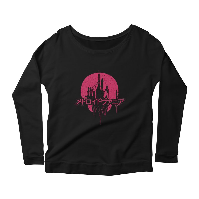 METROIDVANIA Women's Scoop Neck Longsleeve T-Shirt by UNDEAD MISTER