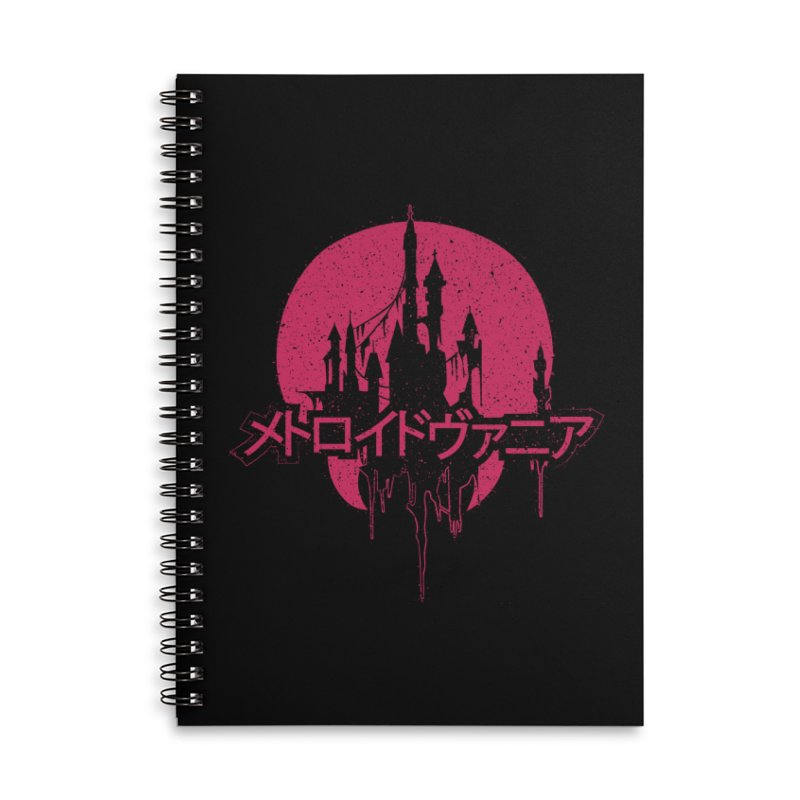 METROIDVANIA Accessories Lined Spiral Notebook by UNDEAD MISTER