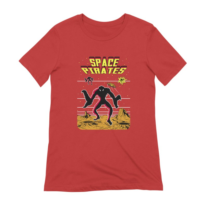 SPACE PIRATES Women's Extra Soft T-Shirt by UNDEAD MISTER