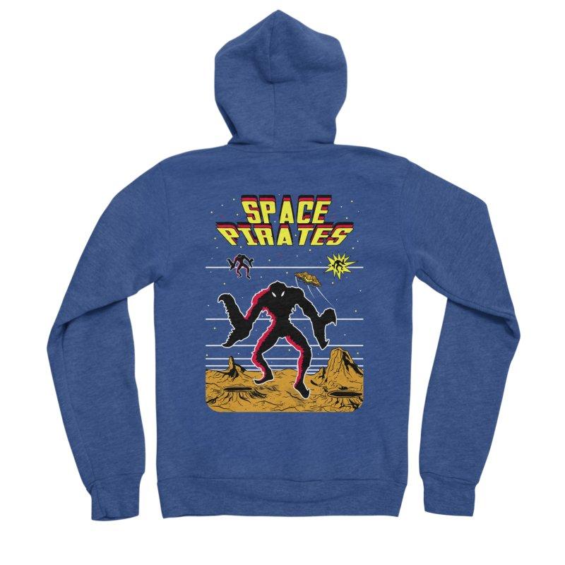 SPACE PIRATES Women's Sponge Fleece Zip-Up Hoody by UNDEAD MISTER