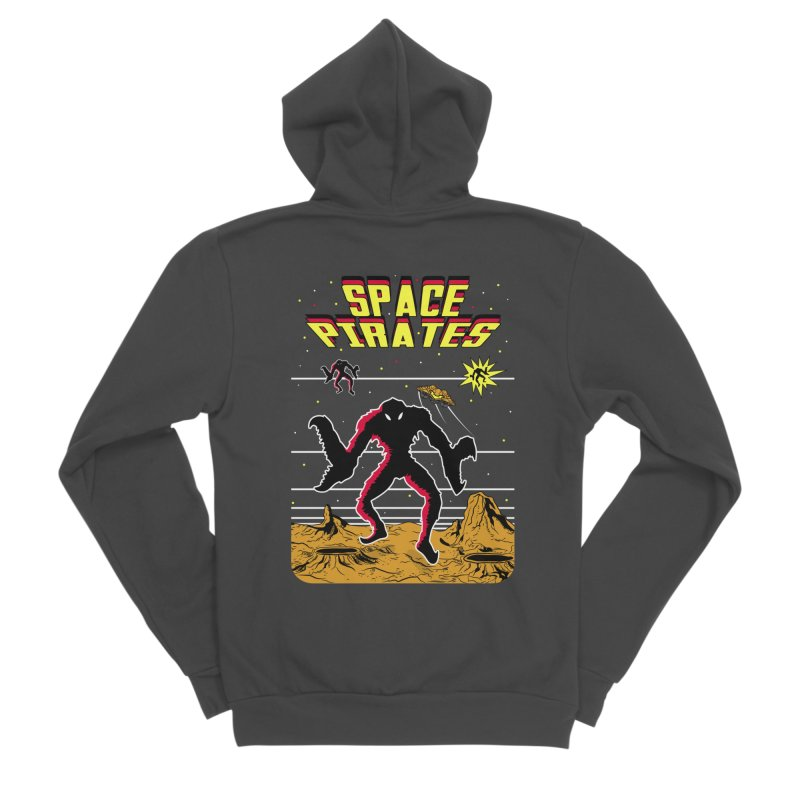 SPACE PIRATES Men's Sponge Fleece Zip-Up Hoody by UNDEAD MISTER