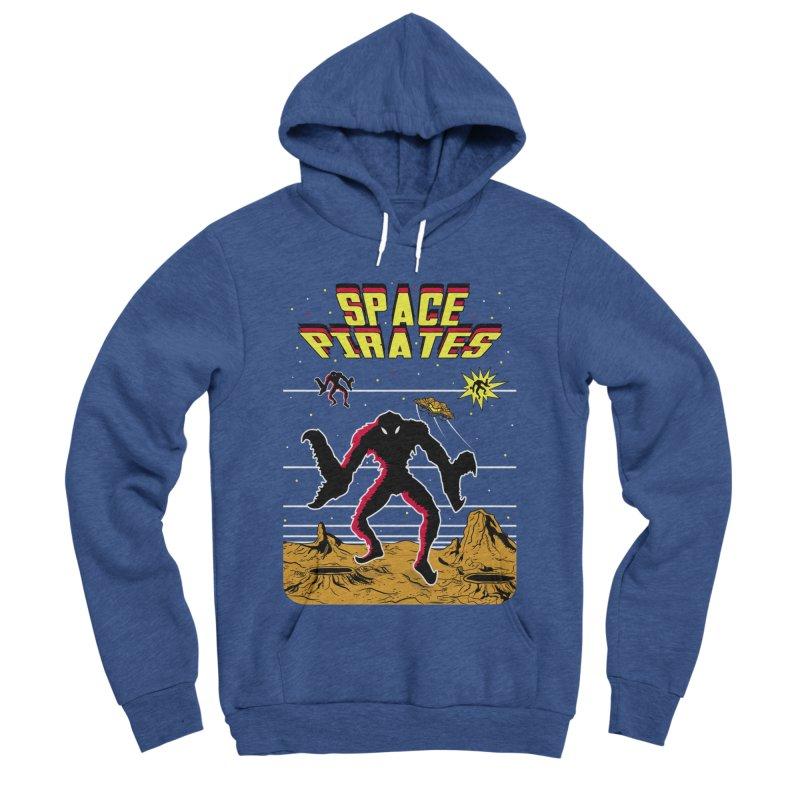 SPACE PIRATES Men's Sponge Fleece Pullover Hoody by UNDEAD MISTER
