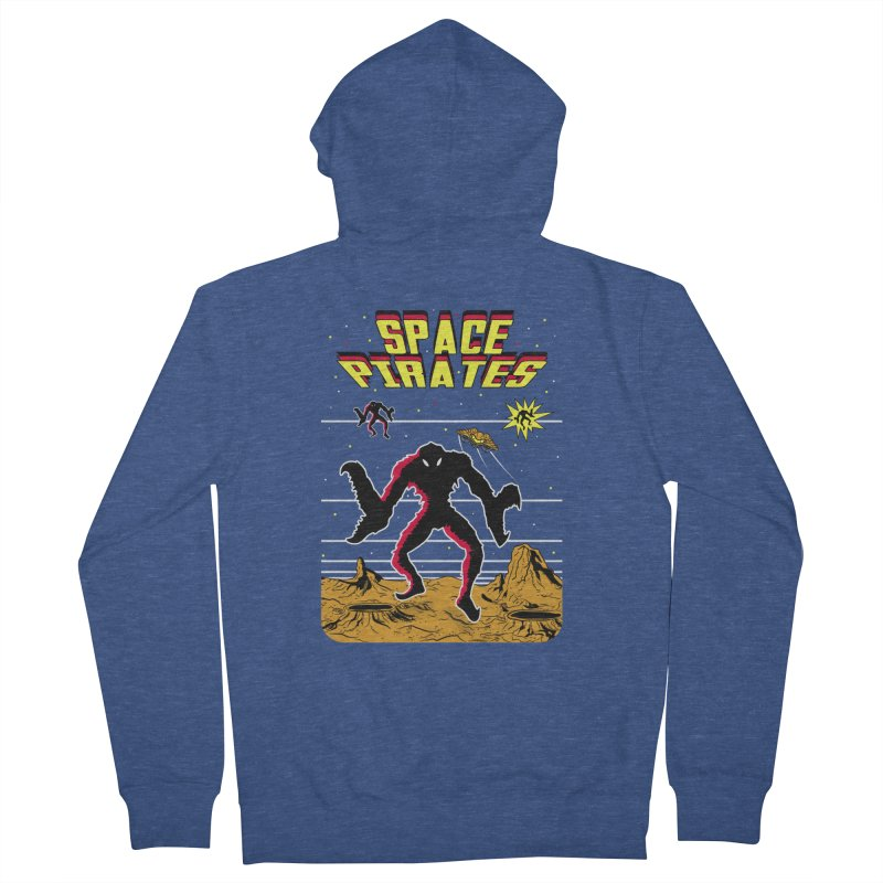 SPACE PIRATES Men's Zip-Up Hoody by UNDEAD MISTER
