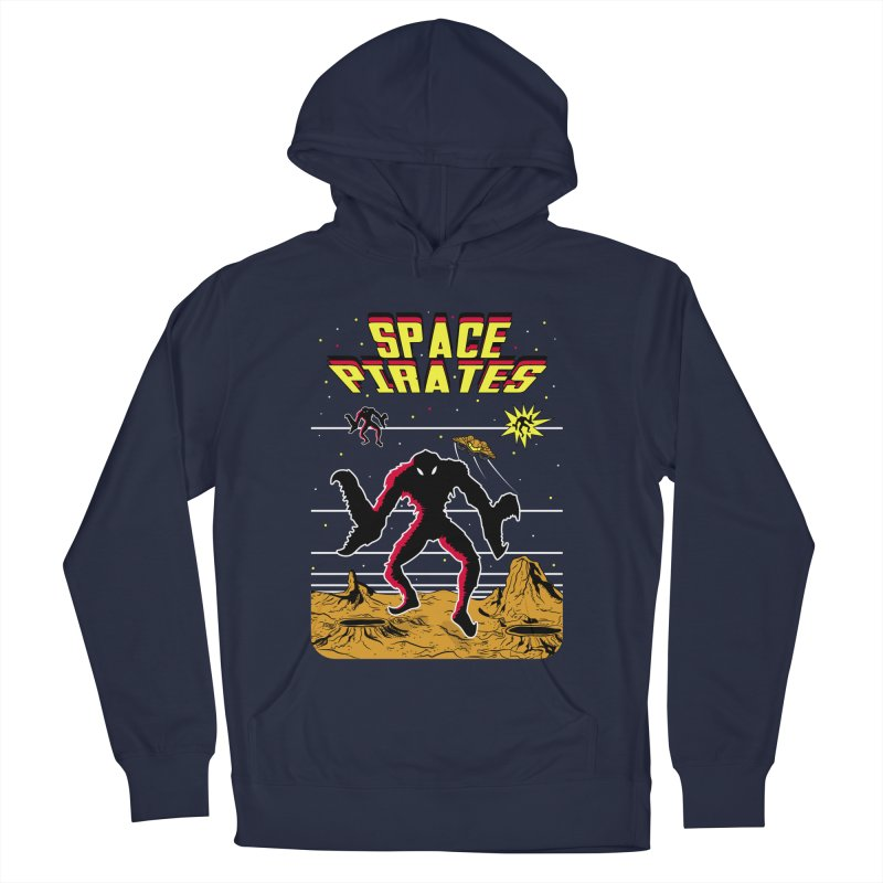 SPACE PIRATES Women's French Terry Pullover Hoody by UNDEAD MISTER