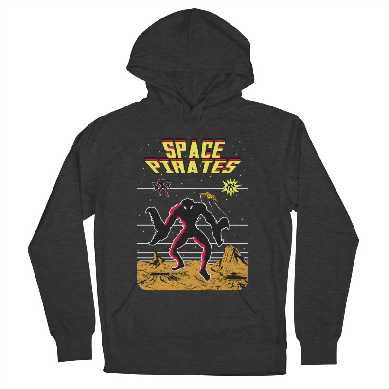 SPACE PIRATES Men's French Terry Pullover Hoody by UNDEAD MISTER