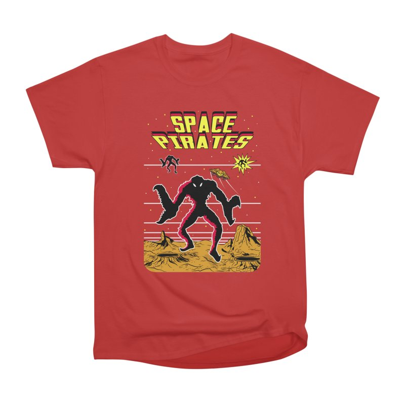 SPACE PIRATES Men's Heavyweight T-Shirt by UNDEAD MISTER