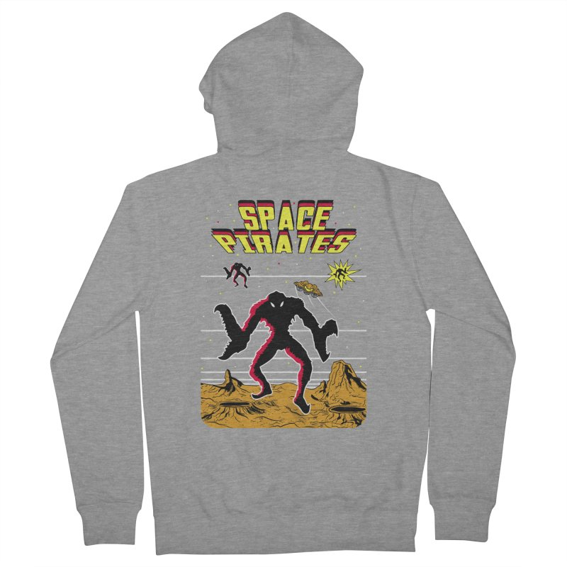 SPACE PIRATES Women's French Terry Zip-Up Hoody by UNDEAD MISTER