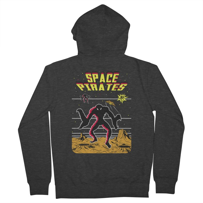 SPACE PIRATES Men's French Terry Zip-Up Hoody by UNDEAD MISTER