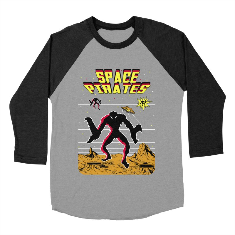 SPACE PIRATES Women's Baseball Triblend Longsleeve T-Shirt by UNDEAD MISTER