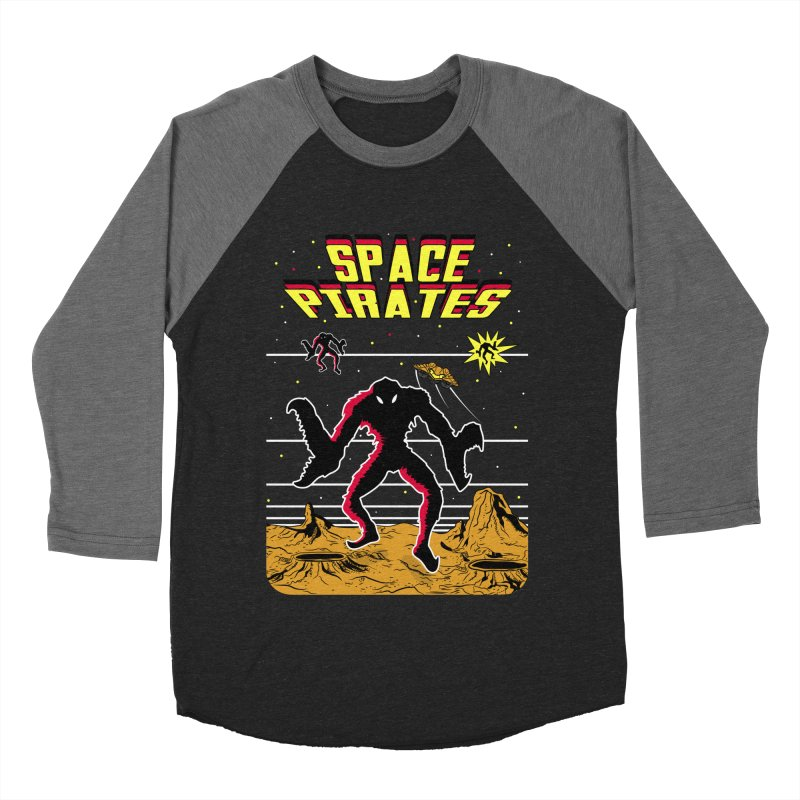 SPACE PIRATES Men's Baseball Triblend Longsleeve T-Shirt by UNDEAD MISTER