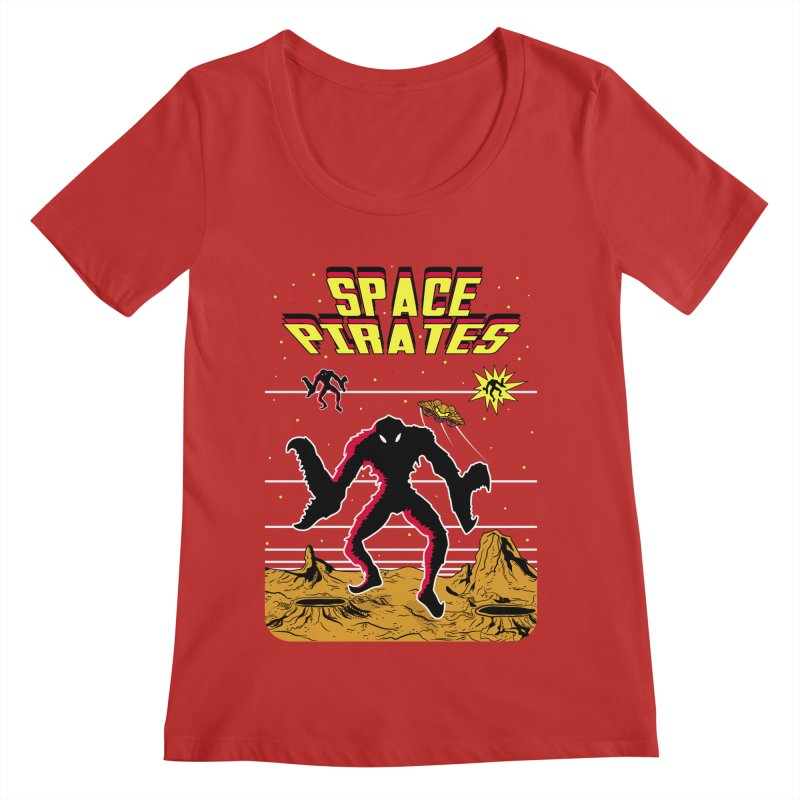SPACE PIRATES Women's Scoop Neck by UNDEAD MISTER