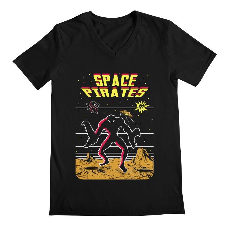 SPACE PIRATES Men's Regular V-Neck by UNDEAD MISTER