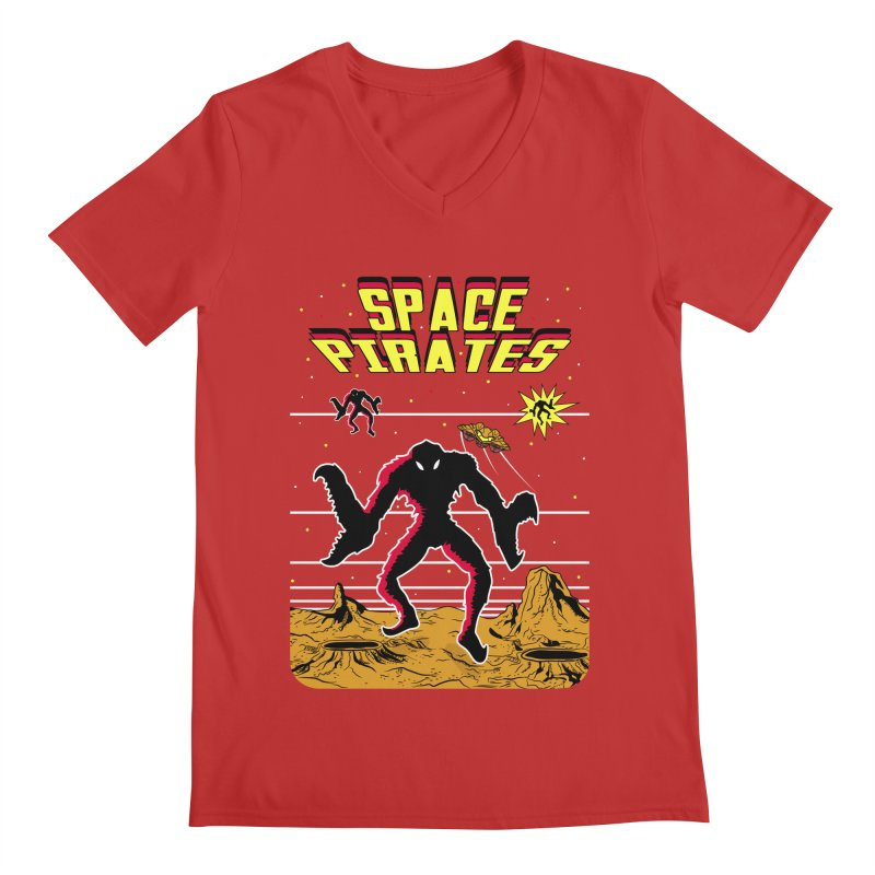 SPACE PIRATES Men's Regular V-Neck by UNDEAD MISTER