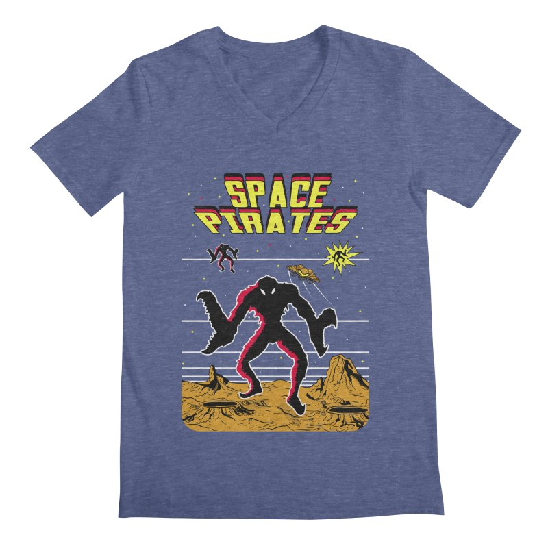SPACE PIRATES Men's V-Neck by UNDEAD MISTER