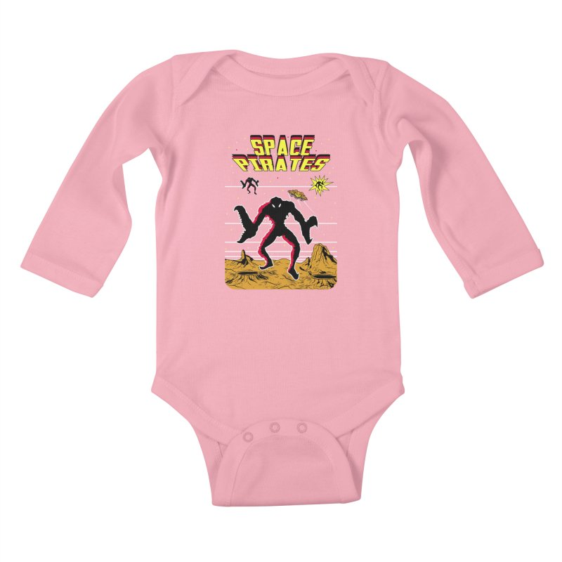 SPACE PIRATES Kids Baby Longsleeve Bodysuit by UNDEAD MISTER