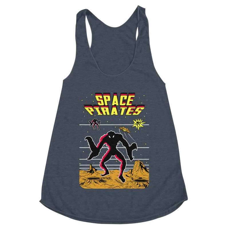SPACE PIRATES Women's Racerback Triblend Tank by UNDEAD MISTER
