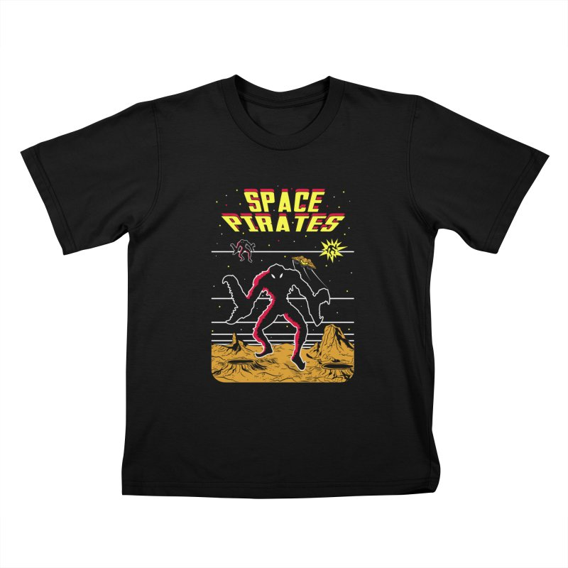 SPACE PIRATES Kids T-Shirt by UNDEAD MISTER