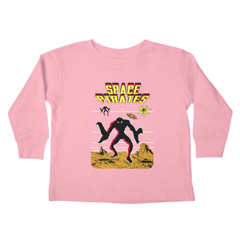 SPACE PIRATES Kids Toddler Longsleeve T-Shirt by UNDEAD MISTER