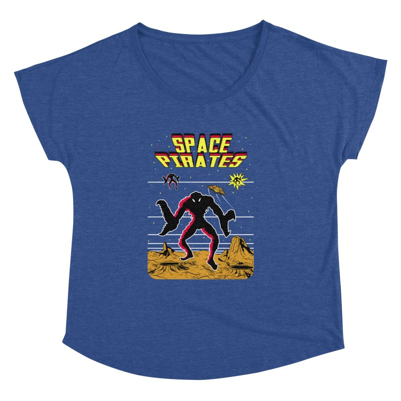 SPACE PIRATES Women's Dolman Scoop Neck by UNDEAD MISTER
