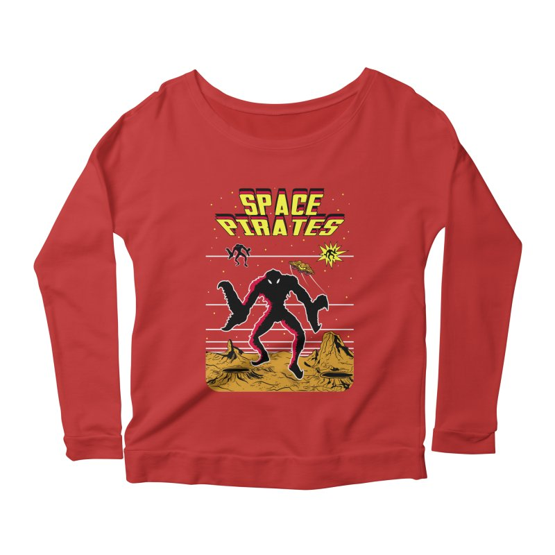 SPACE PIRATES Women's Scoop Neck Longsleeve T-Shirt by UNDEAD MISTER